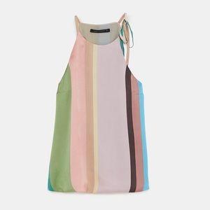 Zara striped halter top size XS